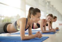 Women Doing Fitness Exercises ...