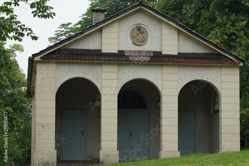 In de dag Begraafplaats Altstadtfriedhof in Mülheim an der Ruhr