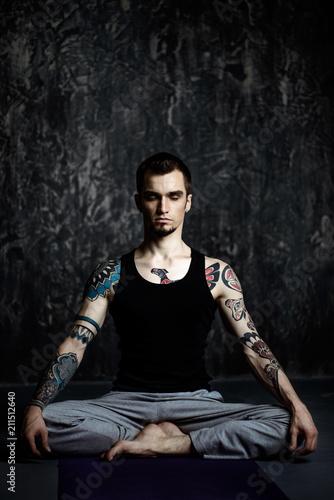 guy in lotus pose