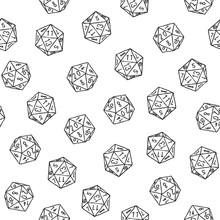 Seamless Hand-drawn Icosahedro...