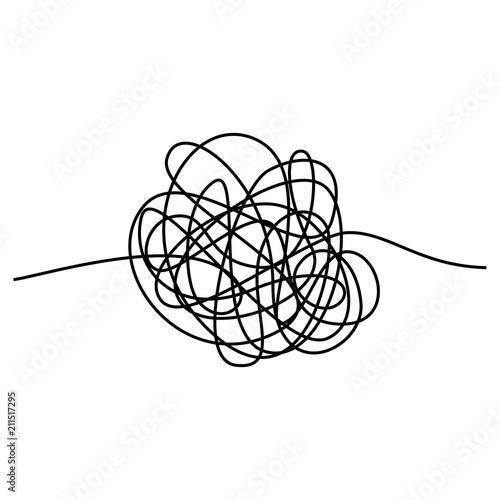 Fotografie, Obraz  Abstract tangle thread
