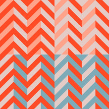 Vector Chevron - Set Of 4 Chevrons Of Orange And Red Color