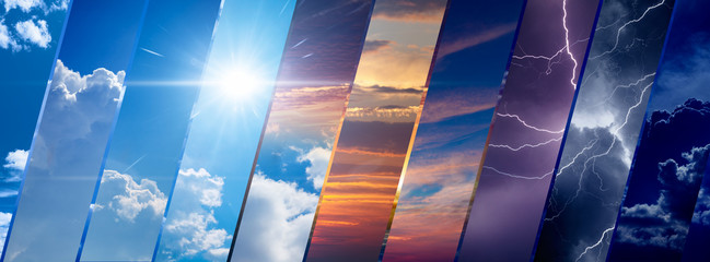 Weather forecast background, climate change concept