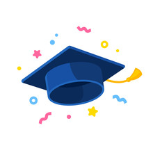 Graduate Cap Illustration With...