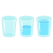 Three Glasses Of Water Set
