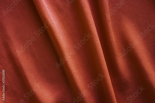 Fotobehang Stof brown fabric with large folds, abstract background