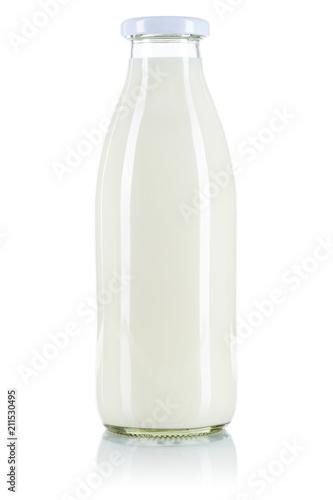 Foto Milch Flasche Milchflasche freigestellt Freisteller isoliert