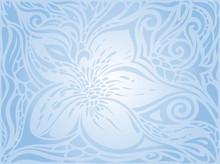 Blue Vector Decorative Flowers...