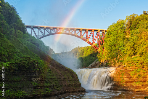 Rainbow Over The Arch At Letchworth State Park Canvas-taulu