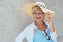 Smiling Mature Blonde Woman We...