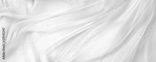 Fotografie, Obraz  White silk fabric