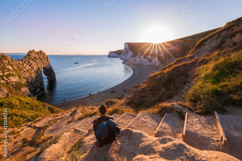 A beautiful photography spot on the south west coast of England, on the jurassic Canvas Print