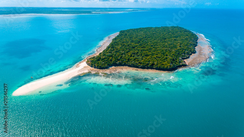 Printed kitchen splashbacks Zanzibar aerial view of the niamembe island, Zanzibar