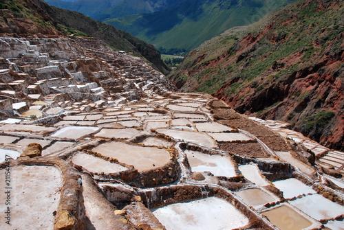 Foto op Canvas Cappuccino Scenery i the Urubamba Valley