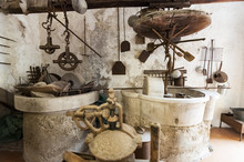 Medieval Workshop For The Manufacture In The Historical Cloister In Naples