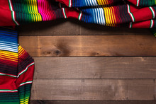 A Mexican Serape Blanket On A ...