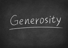 Generosity Concept Word On A B...