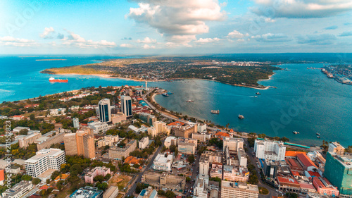 aerial view of the haven of peace, city of Dar es Salaam - 211552823