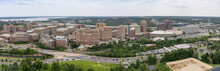 The Skyline Of Alexandria, Virginia, USA And Surrounding Areas As Seen From The Top Of The George Washington Masonic Temple.