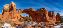 Broken Arch Formation In Arches National Park
