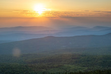 Sunset Over New England Mountains