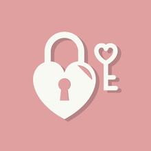 Heart Shape Lock And A Key