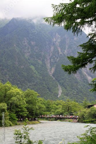 Foto auf Gartenposter Reflexion 上高地