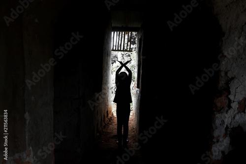Fényképezés  Stop abusing violence,Human trafficking concept,