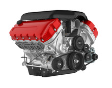 Automotive Car Engine Isolated