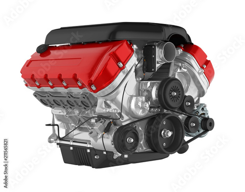 Canvas Print Automotive Car Engine Isolated