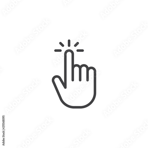 Photo  Click hand outline icon