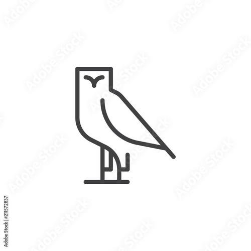 Fotografía  Owl bird outline icon