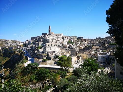 Foto op Plexiglas Historisch geb. Die malerische Felsenstadt Matera, Basilicata, Italien