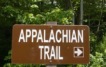 Appalachian Trail Sign Arrow Pointing Right