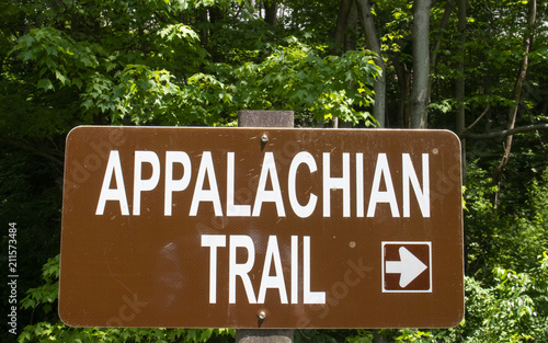 Fotomural Appalachian Trail Sign Arrow Pointing Right