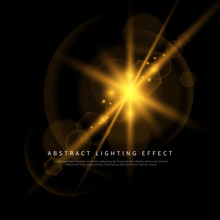 Simple Lighting Effect Vector Background