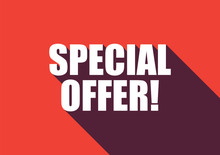 Special Offer Text With Long S...