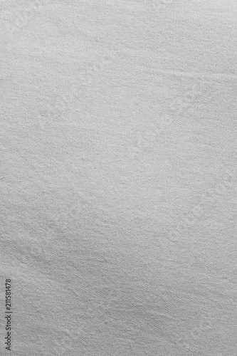 Tuinposter Stof Natural gray textile background with visible details. Old linen texture.