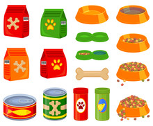 16 Colorful Cartoon Pet Food E...