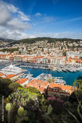 Spoed Foto op Canvas Nice Port and City of Nice in France