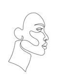 woman face line art - 211586636