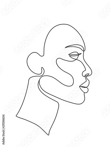 Obraz woman face line art - fototapety do salonu