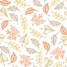 Vector Seamless Pattern Of Aut...