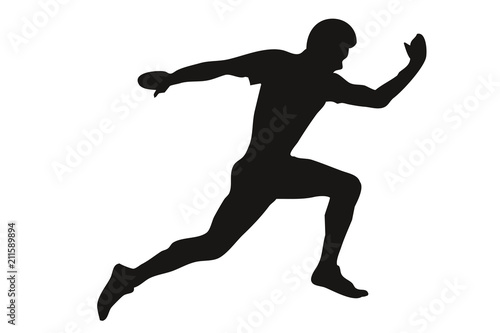 Photo Silueta de una persona corriendo.