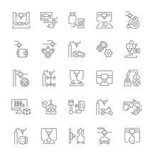 Set Of Simple Icons Of 3D Cars...