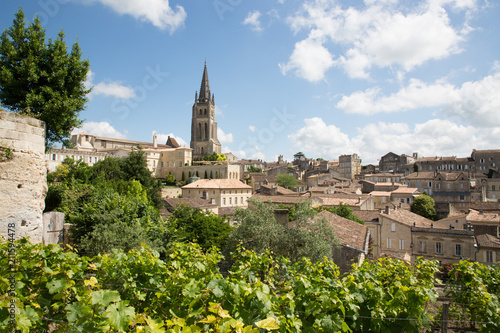 Fotografia main red wine production areas of Bordeaux region Saint Emilion village