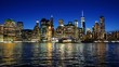 Cityscape of Lower Manhattan New York City at night
