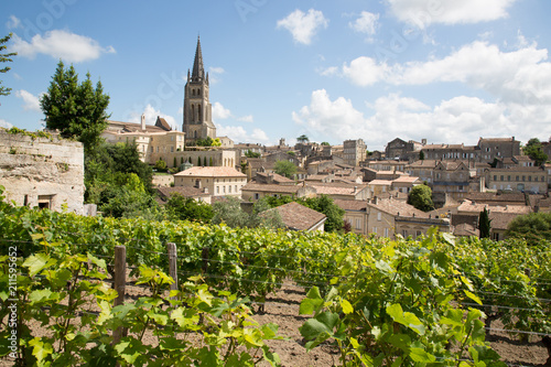 Photo landscape view of Saint Emilion village in Bordeaux region in France
