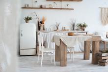 White Textured Kitchen In The ...