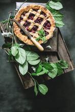 Cherry Pie With Lattice Top Crust